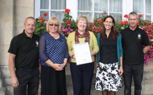 The Melksham Town Council Team with Melksham's Silver award