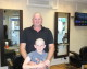 Melksham father and son charity head shave to fund raise for Cancer Research