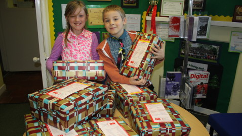 Forest & Sandridge join in family shoebox appeal