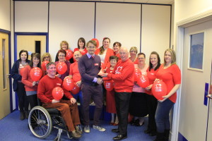 Staff at Somerset Care who raised money for the British Heart Foundation