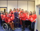 Melksham care staff's red day for the  British Heart Foundation
