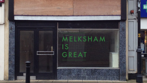 Temporary art commission in Melksham High Street