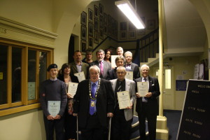 Mayor Chris Petty with the award winners