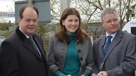Minister sees improvements at Melksham station