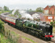 Steam locomotive Braunton visits Melksham