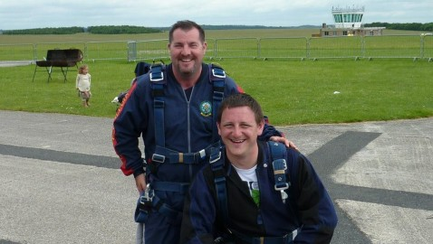 Brave Melksham officers jump from 13,500ft