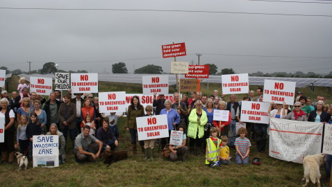 """No more solar farms"" say villagers"