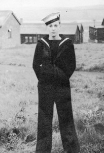 Roy in his naval uniform.