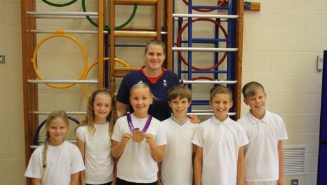 Olympic medallist makes Melksham visit