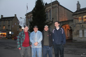 Members of the Melksham Christmas Lights team
