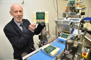Glyn Woolley, owner of Coombe Castle – three times Queen's Awards for international trade winner – with the new packaging plant, part-funded by the Rural Economy Grant.