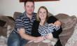 Melksham couple celebrate birth of first baby in Wiltshire in 2015
