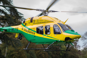 The new Bell 429 air ambulance.