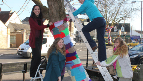 Another tree 'yarn bombed' as town set to welcome South West in bloom