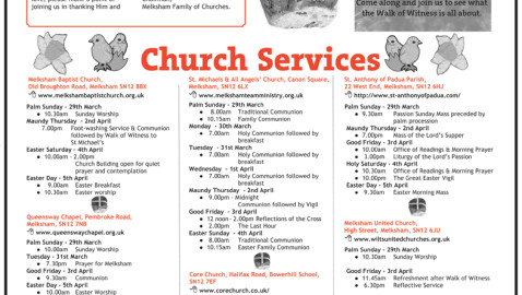Melksham Family of Churches at Easter