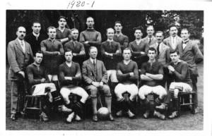 The first Melksham side to play at the Conigre - Melksham & Avon United FC