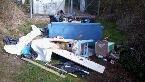 Waste dumped on local bridle path
