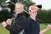 Charity golfing marathon in the rain