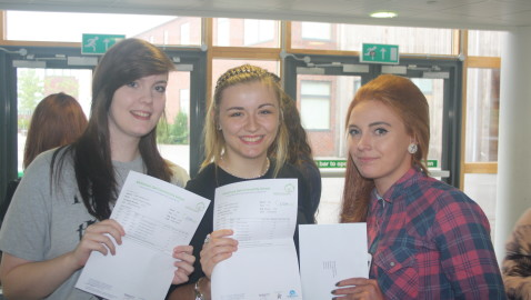 Students celebrate exam success