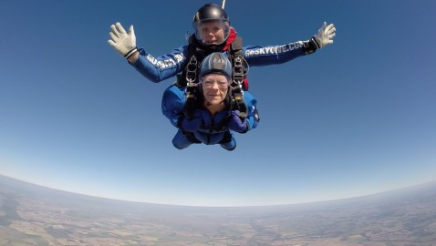 Leap of faith raises £2,400 for cancer unit