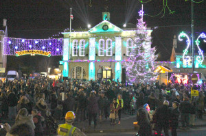 Melksham's Christmas Lights are switched on