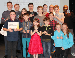 Some of the winners of Melksham Young People's Awards 2015