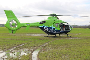 Great Western Air Ambulance lands in Bowerhill