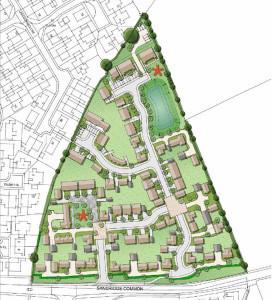 A plan of the proposed Sandridge Common development