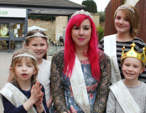 Melksham Carnival Queen Erika Bignell (centre) with (l-r) Fairy Princess, Ciara Cottle; Butterfly Princess, Charlotte Harrall; Princess, Elle Snell; and Prince, William Fletcher.