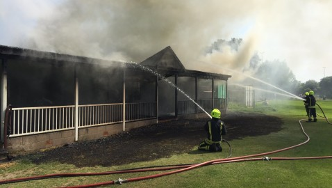 Cricket club 'overwhelmed' by support after devastating fire