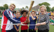 GBtriathlete opens school's new sports court