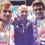 Paul Murphy with Jack Laugher and Chris Mears