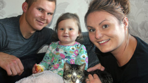 Pixie, the hero cat, saves the life of choking toddler