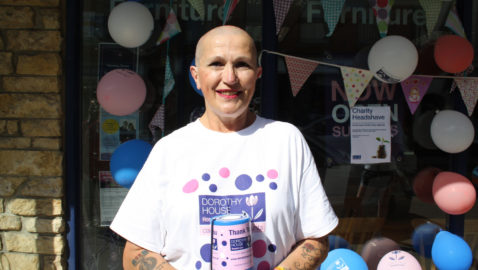 Volunteer's close shave for Dorothy House