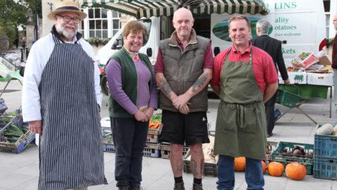 Melksham market is welcomed back home