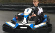 Teenager celebrates as he races his way to victory