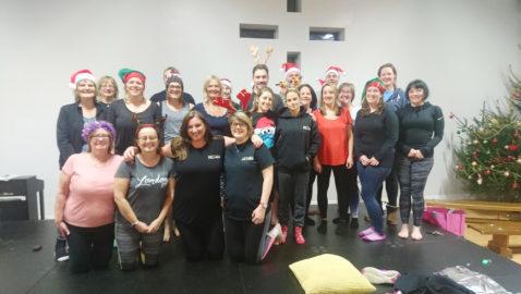 Pilates class raises money for charity