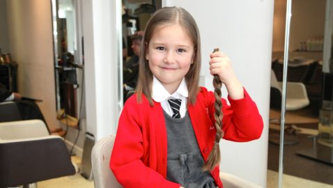 Hair today, gone tomorrow! Local girl loses her locks for charity