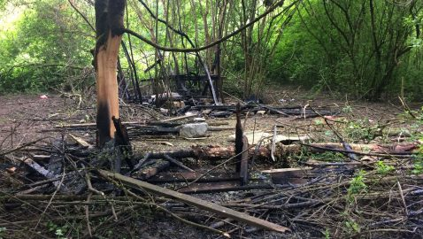 Nature reserve left to burn by vandals