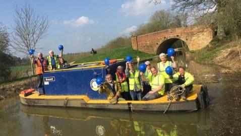 Canal restoration reaches local landmark