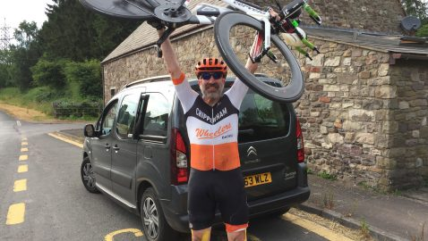 Cyclist breaks records for local charity