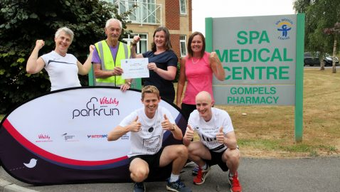 Leaders of the pack! Medical centre becomes first 'parkrun practice'