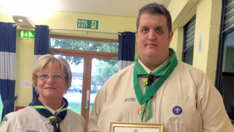 Scout leaders awarded for outstanding service