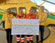 Crash survivor presents cheque to lifesaving air ambulance
