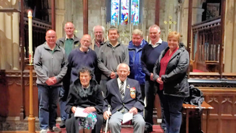 Bells ring out for couple's 75th wedding anniversary