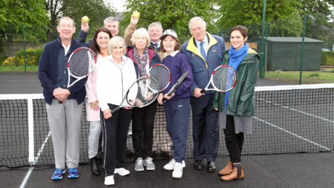 Tennis returns to Melksham House for the whole community