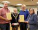 Volunteers celebrate Whitley's success in 'Best Kept Village' competition