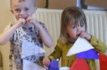Rocking Horse Nursery children make bunting for Mavern's elderly residents