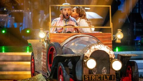 Local artist's Chitty Chitty Bang Bang replica car debuts on Strictly!