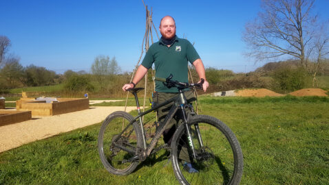 Wildlife trust support worker gets on his bike for his students